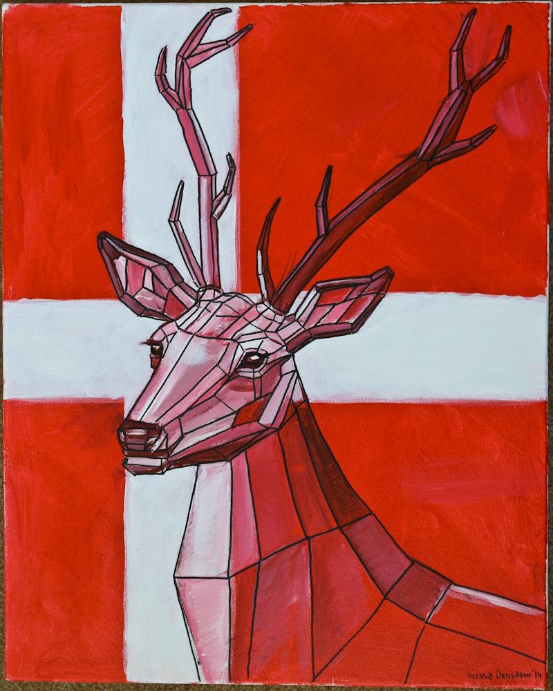 Hej Nordic deer by Inessa Demidova