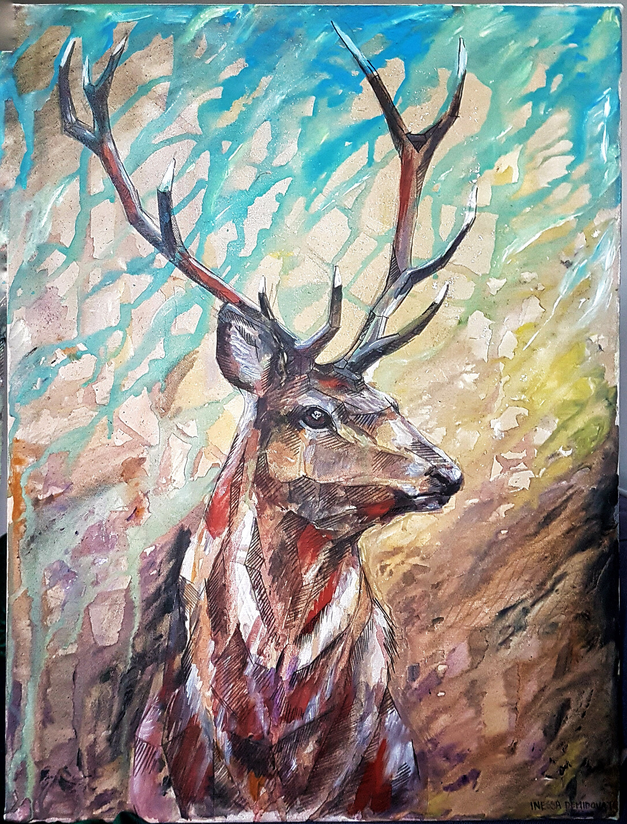 Turning Light Deer